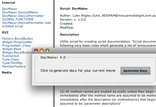 screengrab of the utility movie and the output